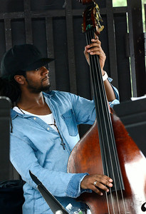 Bassist Ben Williams and Sound Effect play the gazebo Saturday at the jazz festival. Ed Burke 6/29/13