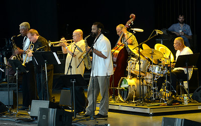 The Cookers heat up the main stage Saturday at the Freihofer Saratoga Jazz Festival. Ed Burke 6/29/13