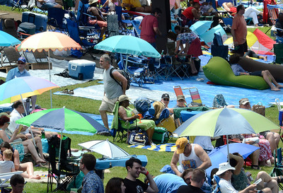 Jazz fans claim their piece of the lawn for Saturday's lineup at the Freihofer's Saratoga Jazz Festival. Ed Burke 6/29/13
