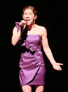 "Julianne DeGuardi sings ""Another Hundred People"" during Friday's Just Desserts cabaret fundraising show by the Ballston Spa High School Troupe. Ed Burke 3/4/11"