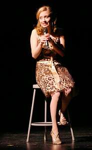 """Anna Pancoast sings """"Memory"""" during Friday's Just Desserts cabaret fundraising show by the Ballston Spa High School Troupe. Ed Burke 3/4/11"""