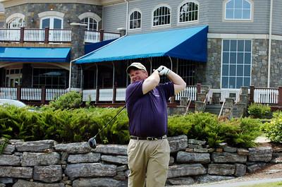 Saratoga Golf and Polo Club golf pro Kevin Hughes at the 10th tee at Saratoga National Tuesday morning. photo Rick Gargiulo spt_golfing_wed 5/26/09