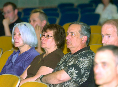 Audience members listen during Tuesday's town hall meeting to help small business facilitated by Congressman Scott Murphy at Gowana Middle School on the Shenedehowa campus in Clifton Park. Ed Burke 5/26/09