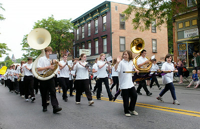 Members of the Ballston Spa High School marching band participate in Saturday's Memorial Day parade. Ed Burke 5/29/10