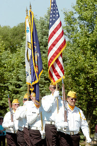 The Saratoga National Cemetery Honor Guard Association Retiring of Colors at the ending of the 11th Annual Memorial Day Ceremony at the Gerald B.H. Solomon Saratoga National Cemetery. Photo Erica Miller 5/31/10 news_SarNtlCem7_Tues