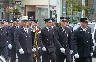 Ballston Spa firefighters march in Saturday's Memorial Day parade in Ballston Spa. Ed Burke 5/29/10