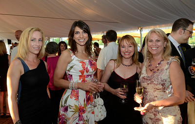 Among those attending the 3rd Annual Music, Models and Mingling fundraiser for the Senior Citizens Center of Saratoga Springs were, from left: Sequoyah Finkell, Gloria Ford, Melanie Manuel and Debi Oliveira. Finkell was a member of the event organizing committee. Ed Burke 5/30/13