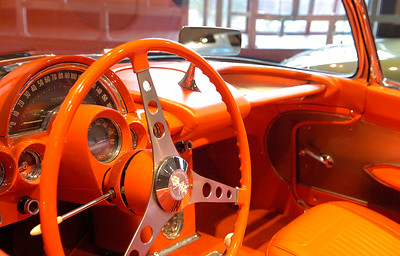 Interior view of one of the many Corvettes on display at the Saratoga Automobile Museum in the Spa State Park. Photo Erica Miller 11/30/09 news_Corvette1_Tues