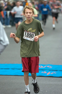 Garrett Wysocki of Gansevoort, age 13, finisheThursday's Turkey Trot. Ed Burke 11/26/09