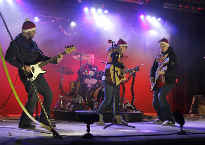 The Claytones perform Thursday aboard the Canadian Pacific holiday train. Ed Burke 11/29/12