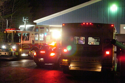 Greenfield fire department and Saratoga Emergency Medical Crew help the 2 year old in the ambulance after finding him on Hemlock Drive. Photo Erica Miller 10/30/09 news_MissKid1_Sat