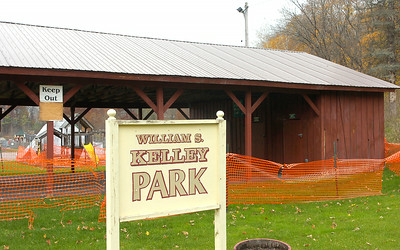 The closed pavilion at Kelley Park in Ballston Spa. Ed Burke 10/30/09