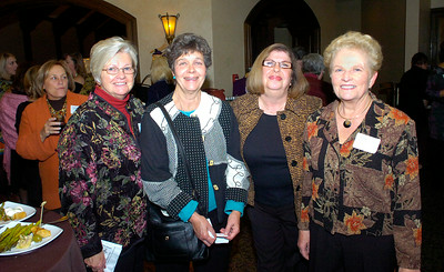 Saratogians left to right: Cathy Brown, Carol McTigue, Delia Santora and Kathy Nygard at the Just for Women event at Saratoga National Golf Club. Ed Burke 10/29/09