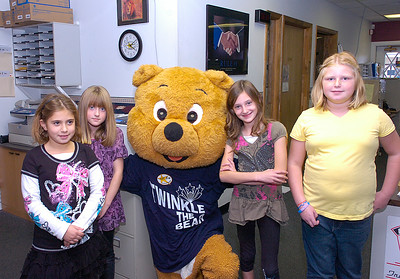 From left: Lena Fay, Catherine Bergan, Twinkle the Bear, Samantha Hardy and Melissa Swiers. Ed Burke 10/28/11