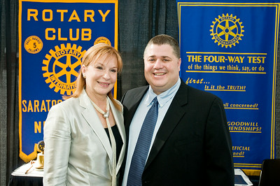 Marcia White and Alphonse Lambert were recoginized by the SS Rotary Foundation Sunday morning at the Saratoga City Center. Photo Eric Jenks 10/30/11