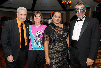 The Nation Center for Missing and Exploited Children held their Annual Halloween Masquerade Ball, (L-R) John Kelly and Stacy Herron, NCMEC/NY Capital Region Office, Guest Speaker Catherine Squadrille Stevens, and Ed Suk Executive Director of NCMEC/NY Branch. Photo Erica Miller 10/28/11 jj_NCMEC2