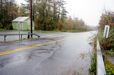 Part of Gilbert Road, which cuts across from Route 29 and Route 9P is closed due to heavy rain fall. Photo Erica Miller 10/1/10