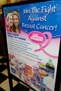 Items for sale at Price Chopper, decorated with a pink breast cancer awareness ribbon. Portions of the proceeds will be donated to different breast cancer awareness organizations, their goal this year is 1.25 million. Photo Erica Miller 9/29/11 news_PCpink5_Sat