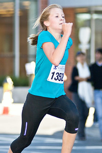 12 Year Old Abby Stafford came in third place among women and first in her age group Sunday Morning during the 5k Palio Run in Downtown Saratoga Springs. Photo Eric Jenks 9/18/11