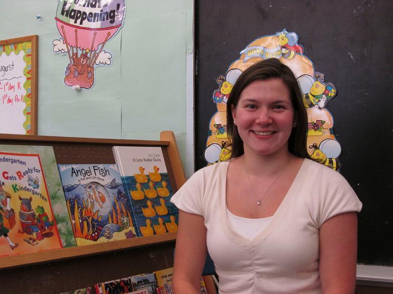 Meghan Foley/North Adams Transcript<br /> Amy Maselli will teach preschool and kindergarten at Stamford Elementary School this year.