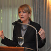 with Meghan story<br /> Gillian Jones/North Adams Transcript<br /> Massachusetts Attorney General Martha Coakley speaks to the Berkshire Chamber of Commerce Wednesday morning at the Williams Inn in Williamstown.