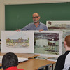 with Jen story<br /> Gillian Jones/North Adams Transcript<br /> David Westall speaks to eighth graders about a career in architecture Wednesday at MCLA.