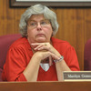 with Jen story<br /> Gillian Jones/North Adams Transcript<br /> City Clerk Marilyn Gomeau listens during the meeting.