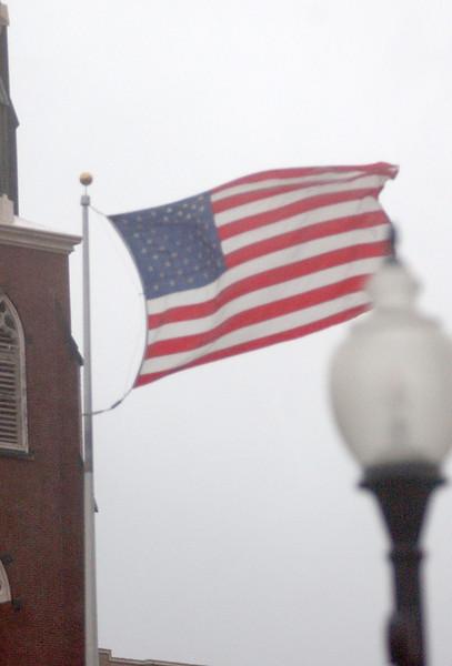 Flag at the Veterans Memorial Park