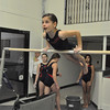 with Jen story<br /> Gillian Jones/North Adams Transcript<br /> Natasha Bohl, 9, works on the low bar of the uneven bars.