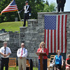 Ryan Hutton/North Adams Tanscript<br /> From left, Selectmen Dan Delorey, Paul Astorino and Carol Francesconi open the Cheshire Memorial Day celebrations.