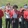 Ryan Hutton/North Adams Tanscript<br /> Members of the Hoosac Valley High School marching band perform during the Cheshire Memorial Day celebrations.