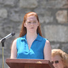 Ryan Hutton/North Adams Tanscript<br /> Hoosac Valley High School junior Ellen Rowe, right, reads the Gettysburg Address at the Cheshire Memorial Day celebration.