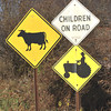 Gillian Jones/North Adams Transcript<br /> This menagerie of signs, reflecting Berkshire County living, is on East Harbor Road in Cheshire.