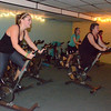 with Jen story<br /> Gillian Jones/North Adams Transcript<br /> Women participate in a spinning class at the Northern Berkshire YMCA.