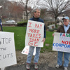 with Ryan story<br /> Gillian Jones/North Adams Transcript<br /> A rally in front of the North Adams City Hall brought out a hand full of people including, from left, Richard Dassatti, Shaun Sutliff and Mark Lincourt.