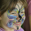 Gillian Jones/North Adams Transcript<br /> Madeline Alfieri, 5, smiles after getting her face painted at Riverfest in Williamstown on Saturday.