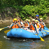 Gillian Jones/North Adams Transcript<br /> People take raft rides down the Hoosic River as part of Riverfest on Saturday.