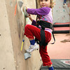 Kezia Chee/North Adams Transcript<br /> <br /> Kimberly Mach, 4, prepares to scale one of the climbing walls in the Williams College Towne Field House during Williamstown Youth Center's Snowfest fundraiser Sunday afternoon.