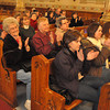 with Jen story<br /> Gillian Jones/North Adams Transcript<br /> People applaud inside St. Stanislaus Kostka Church in Adams on Tuesday afternoon during a press conference after learning the Vatican had decreed that the church must stay open as a divine place of Catholic worship.