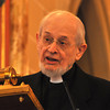 with Jen story<br /> Gillian Jones/North Adams Transcript<br /> Fr. Seraphim Michaelenko speaks during the press conference to announce the decree from the Vatican that St. Stanislaus Church will remain open as a place of worship.