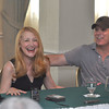Gillian Jones/North Adams Transcript<br /> The Elephant Man director Scott Ellis, right, and Patricia Clarkson, left, share a laugh during a Q&A Tuesday afternoon at The Williams inn during a press preview.