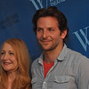 Gillian Jones/North Adams Transcript<br /> Posing for the cameras during a press preview for The Elephant Man at the Williams Inn on Tuesday afternoon are performers Patricia Clarkson and Bradley Cooper.