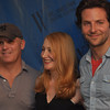 Gillian Jones/North Adams Transcript<br /> Posing for the cameras during a press preview for The Elephant Man at the Williams Inn on Tuesday afternoon are director Scott Ellis and performers Patricia Clarkson and Bradley Cooper.