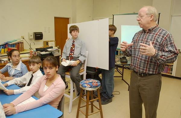 Teleconference at Clarksburg School