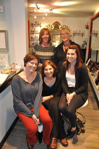 with Meghan story<br /> Gillian Jones/North Adams Transcript<br /> U, a fine hair salon, is expanding. Clockwise from top are Jodi Spencer, Karen Brown, Amber Moore, Linda Finney and Sarah Brill.