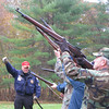 Meghan Foley/North Adams Transcript<br /> A firing squad gives a 21-gun salute during the Veterans Day ceremony at American Legion Post 152 in Williamstown on Friday.