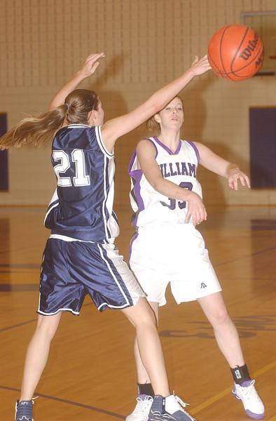 Williams womens hoop vs. Middlebury