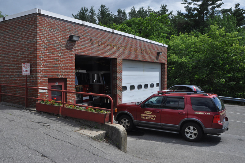 with Meghan story<br /> Gillian Jones/North Adams Transcript<br /> The Williamstown Fire Station on Water Street in Williamstown.