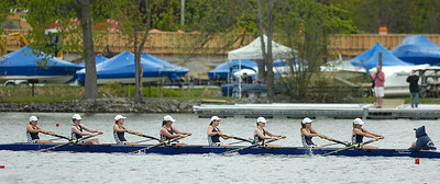Saratoga Girls Freshman 8 boat heads for a win in Saturday's final. Ed Burke 5/14/11