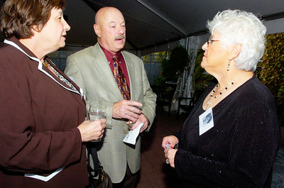 Karen Green Weber, Bob Weber and Mary Moldes Keonig enjoy remembering the old times at their 45th SSHS reunion at The Inn at Saratoga Saturday evening. Photo Erica Miller 9/20/08 fea_63Reunion4